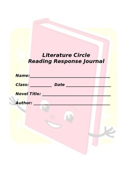 Literature Circle Student Booklet
