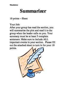 Literature Circle - Summary