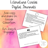 Literature Circles Reading Notes & Responses: Journal for