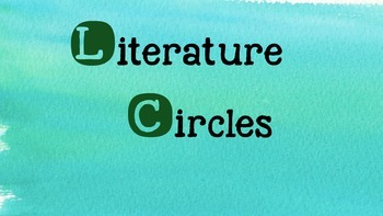 Literature Circles Text to World Self Text Powerpoint