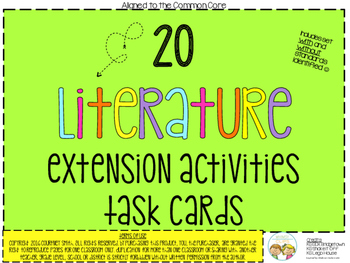 Literature Extension Activities Task Cards