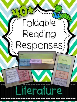 Literature Foldable Reading Responses - Common Core Aligned