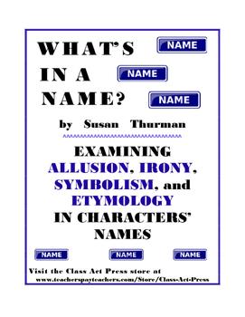 Literature Fun: Allusion, Irony, Symbolism, Etymology, Voc