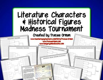 Free Literature & History Tournament Madness Creative Activity