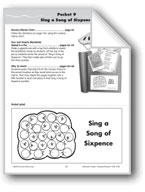 Literature Pocket/Nursery Rhyme: Sing a Song of Sixpence