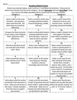 Literature Response Activities