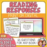 Reading Response QUESTION Cards for Any Book: Close Readin