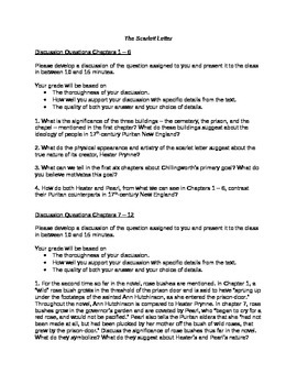 Literature: _The Scarlett Letter_ Study Questions