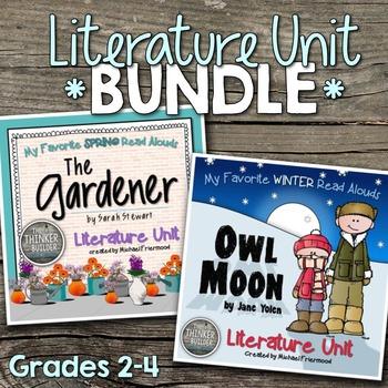 Literature Unit BUNDLE: Owl Moon AND The Gardener