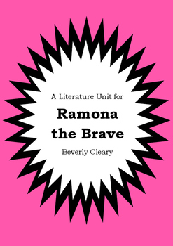 Literature Unit - RAMONA THE BRAVE - Beverly Cleary - Nove