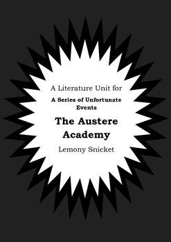 Literature Unit Series Of Unfortunate Events THE AUSTERE A
