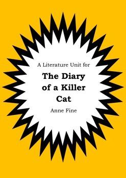 Literature Unit - THE DIARY OF A KILLER CAT - Anne Fine -