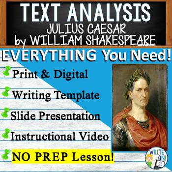 Julius Caesar by W. Shakespeare - Text Dependent Analysis