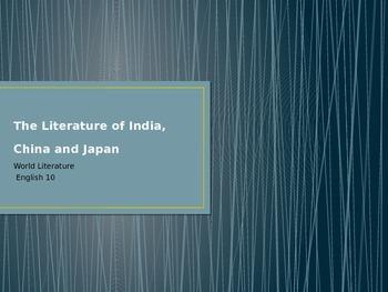 Literature of China, India and Japan