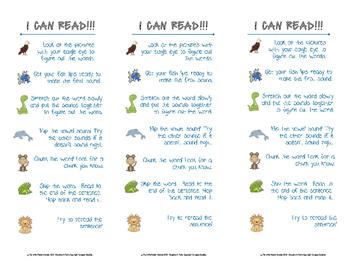 Litteracy Strategies Critter Bookmark