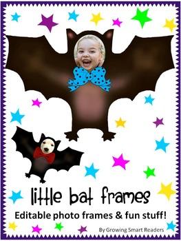Bat Editable Photo Frames and Clip Art