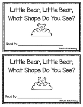 Little Bear, Little Bear, What Shape Do You See? Emergent Reader