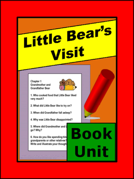 Little Bear's Visit Literacy Unit