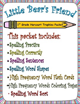 Little Bear's Friend:  First Grade Spelling and Sight Word
