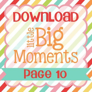 Little Big Moments Page 10 Printable