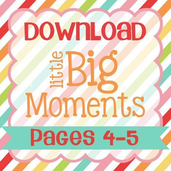 Little Big Moments Pages 4-5 Printable