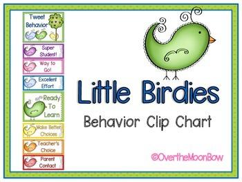 Little Birdies Behavior Clip Chart