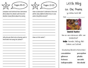 Little Blog on the Prairie Trifold - Wonders 6th Grade Uni
