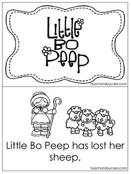 Little Bo Peep Early Emergent Reader. Pre-K and Kindergart