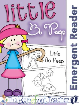Little Bo Peep Nursery Rhyme Emergent Reader & Class Poster
