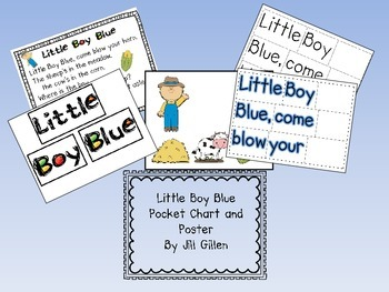 Little Boy Blue Pocket Chart Sentence Strips