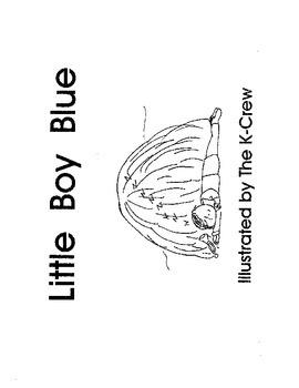 Little Boy Blue (blackline emergent reader)
