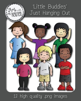 Little Buddies: Just Hanging Out (Kids Clipart)