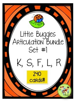 Little Buggies Articulation/Decoding Bundle: Set #1