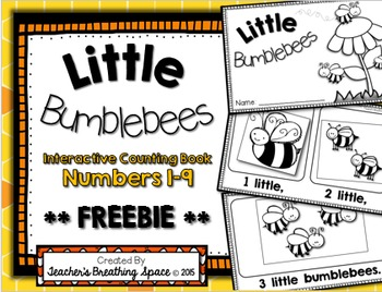 Little Bumblebees --- Interactive Counting Book --- Bumble