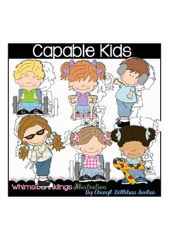 Little Capable Kids  Clipart Collection