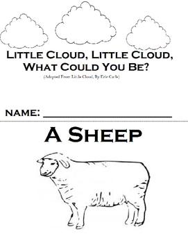 Little Cloud Adapted Printable Workbook (Eric Carle)