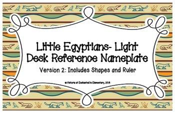 Little Egypians- Light Desk Reference Nameplates Version 2