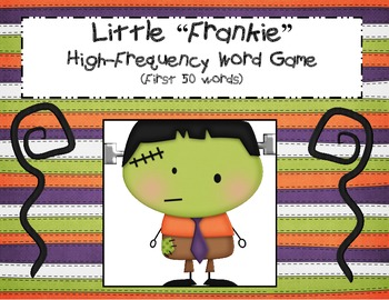 "Little ""Frankie""  High-Frequency Word game"