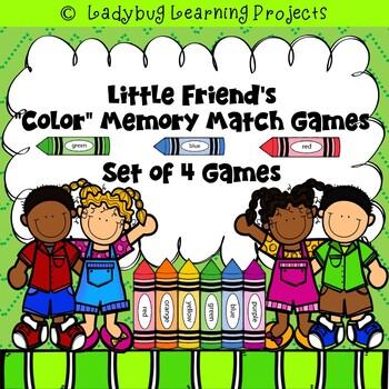 Little Friend's Color Memory Match Games