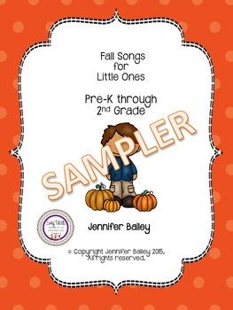 Fall Songs for Little Ones SAMPLER