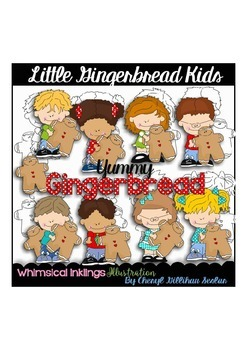 Little Gingerbread Kids Clipart Collection
