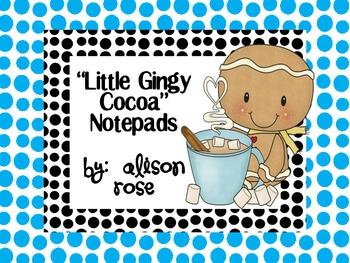 Little Gingy Cocoa Gingerbread Notepads
