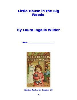 """""""Little House in the Big Woods"""" Booklet for Chapters 1-3"""