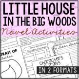 Little House in the Big Woods Interactive Notebook Novel U