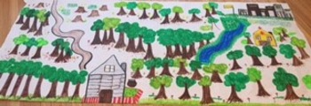 Little House in the Big Woods Landscape Map