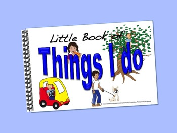 Action Verbs/Things I Do    LITTLE INTERACTIVE BOOK