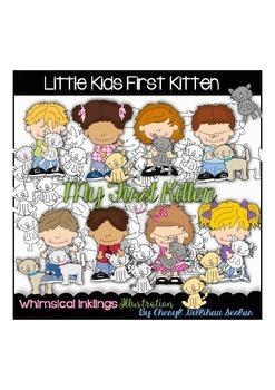 Little Kids First Kitten Clipart Collection