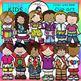 Little Kids Super Bundle clip art- color and B&W- 72 items!