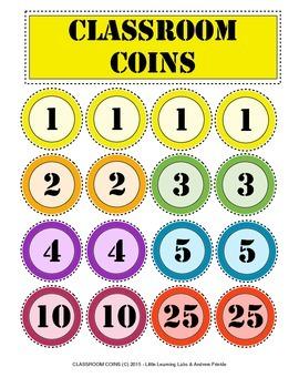 Little Learning Labs - Classroom Coins Set - Behavior Mana
