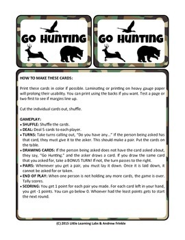 Little Learning Labs - Go Hunting Card Game - Remix of Cla